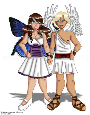 Chibi Psyche and Eros
