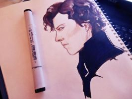 Sketchbook: Sherlock by MilkyYoko