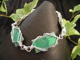 wrapped circuit bracelet by BacktoEarthCreations