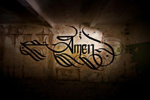AMEN Calligraphy by sectiongraphix