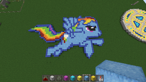 someone made rainbow dash in my server ^^ by MLPBlueRay