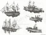 Airship Sketches by Machina-Obscura