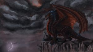 dragon - fafnir by thylaberes