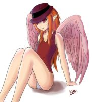 Collab-winged girl by FeroCe-FuoCo