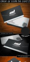 Clean QR Code Business Card 2 by TheUltraDesigns