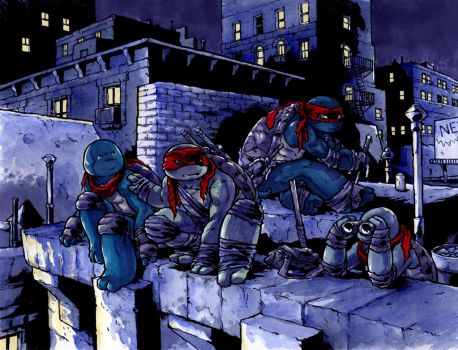 TMNT by mooncalfe