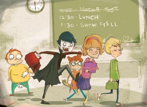 Vampire's Lunch Time by indieflea