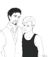 Steve/Tony by frafru