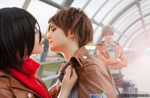 Eren, Mikasa and Jean: Shingeki no Kyojin triangle by Rael-chan89
