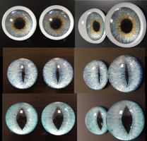 Set 2 Painted Eyes by DreamVisionCreations