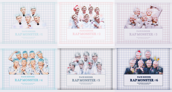 SHARE RENDER HAPPY BIRTHDAY TO RAP MONSTER by yooncua