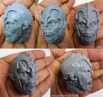 Orc Head resin cast by Arthammer