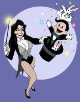 Zatanna and Zachary by The-BlackCat