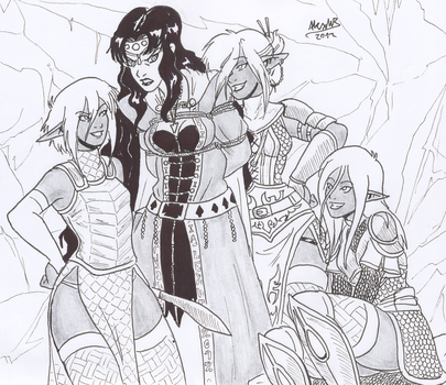 Merella and the drows by Shabazik