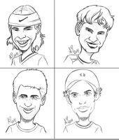 Tennis Players 2 Sketches by anapeig