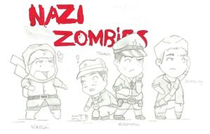 Nazi Zombies cartoon by gamesgirl44