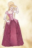 18th Century Disney - Rapunzal by Rachyf1