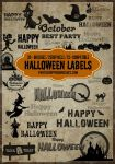 20+ Halloween Tag and Label Photoshop Brushes Vol. by fiftyfivepixels