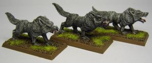 MORDHEIM Giant Wolves by FraterSINISTER