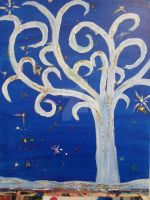 Starry Night Tree by spittfire26