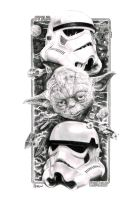 Yoda 'n' Troopers by Quadcabbage