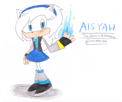 Aisyah the Vocaloid Hedgehog by sonic4ever760