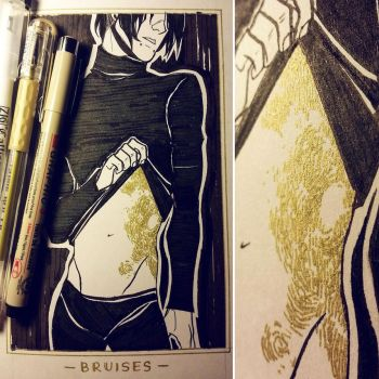 Ink/GrossTober 1: Bruises by Rejuch