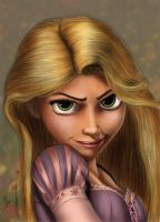 Rapunzel Tangled colored by alexasrosa