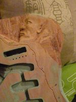 Sculpted Guitar preparation2 by Mymakao