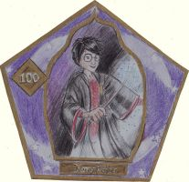 Harry Potter chocolate frog card by LovelyHufflePuff