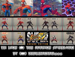 USF4 - FEI LONG - THE AMAZING SPIDER-MAN by Khaledantar666