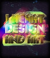 I HEART DESIGN AND ART by blacklabelwood