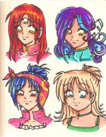 headshots - prismacolor marker by poofy-wings
