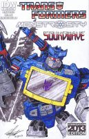 Transformers Sketch Cover Soundwave by tedwoodsart