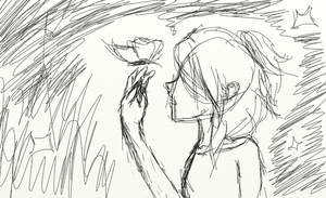 Butterfly Rough Sketch (WIP) by ImaginaryParadox