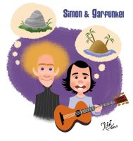 Simon and Garfunkel by LArtisteInconnu