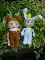 Amigurumi buddies! by Tygermane