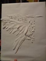 Mockingjay Paper Sculpture by tiketot4