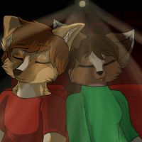 No sleeping in the Theater... by Etheral-Fox