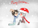 Merry Christmas from Grim and Ryuu!! by Grim-Rainbow