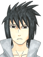 Sasuke Uchiha by monstercat326