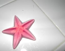 Large Pink Star Soap by beadsofcompassion