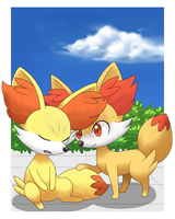 Fennekin Brothers (new) by NasukeUchimaki