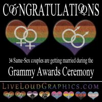 34 Same-Sex couples Married During Grammy Ceremony by lovemystarfire