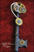 Spiral Steampunk Key by TheClockworkCrow