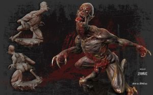 Mutated zombie by 3DNeksus