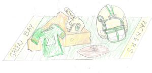 Green Bay Packers Cake Sketch by cake-engineering