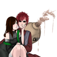 gaara and emika by xkynthiax
