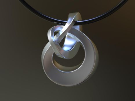 Pendant Incendia Ex Knot 3D Metal Printing by nic022