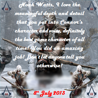 Assassin's Creed III Noah Watts Event(My Message) by DOM098652